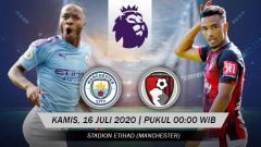 Indosport - Prediksi Liga Inggris Manchester City vs Bournemouth.