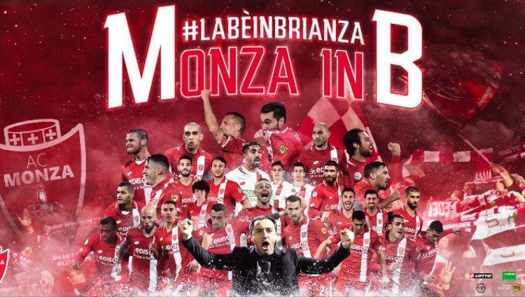 AC Monza berhasil promosi ke Serie B Italia 2020-21. Copyright: Twitter/@lottosport