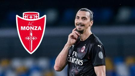 Berikut ini ada 3 rekor bombastis yang bisa dibuat striker AC Milan Zlatan Ibrahimovic jika gabung ke tim Serie B Italia 2020-21 Monza. - INDOSPORT