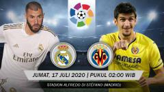 Indosport - Berikut link live streaming pertandingan sepak bola lanjutan kompetisi LaLiga Spanyol 2019/20 pada pekan ke-37 antara Real Madrid vs Villarreal.