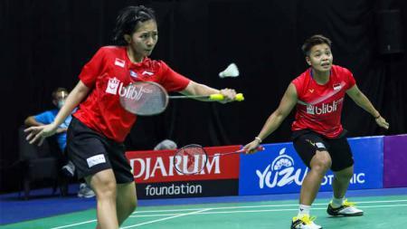 Pebulutangkis Indonesia, Apriyani Rahayu dan Mychelle Christine Bandaso. - INDOSPORT