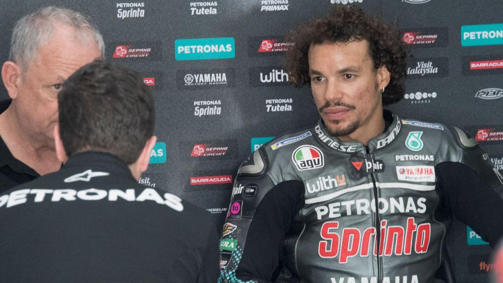 Franco Morbidelli (kanan) dalam sesi wawancara Copyright: Mirco Lazzari gp/Getty Images