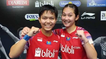 Ribka Sugiarto/Siti Fadia Silva Ramadhanti di Mola TV PBSI Home Tournament. - INDOSPORT