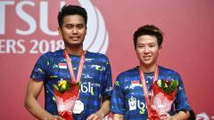 Indosport - Peraih medali perak Tontowi Ahmad dan Liliyana Natsir, Daihatsu Indonesia Masters 2018.