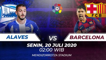 Prediksi pertandingan antara  Deportivo Alaves vs Barcelona dalam lanjutan LaLiga Spanyol 2019-20 membuat tim tamu berupaya bangkis, Minggu (19/07/20) malam. - INDOSPORT