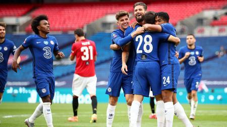 Berikut fakta-fakta yang tersaji dibalik kekalahan Manchester United dari Chelsea di semifinal Piala FA 2019/20. - INDOSPORT