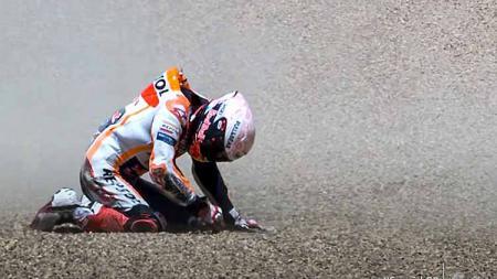 Marc Marquez buka suara mengenai Honda yang kini mengalami masa-masa sulit di MotoGP tanpa dirinya. - INDOSPORT