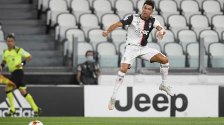 Cristiano Ronaldo dalam laga Juventus vs Lazio - INDOSPORT
