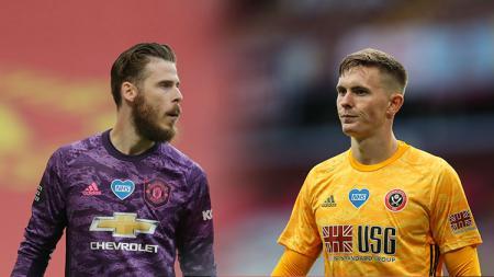 Dean Henderson semakin percaya diri bahwa dia bisa bersaing dengan David de Gea untuk posisi kiper utama Manchester United. - INDOSPORT