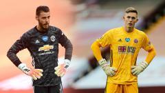 Indosport - David de Gea dan Dean Henderson masih bersaing di Manchester United.