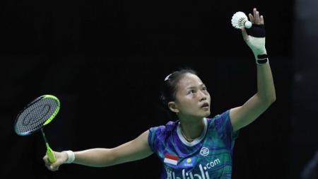 Putri Kusuma Wardani berhasil mengalahkan Fitriani dalam babak perempatfinal Mola TV PBSI Home Tournament yang dilangsungkan pada hari ini, Kamis (23/07/20). - INDOSPORT