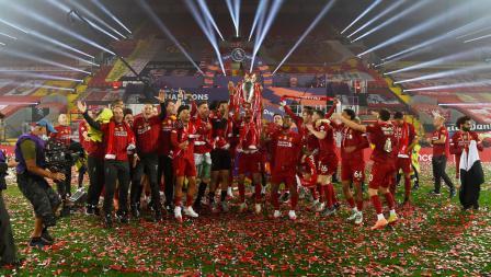 Liverpool rayakan gelar juara Liga Primer Inggris di Anfield