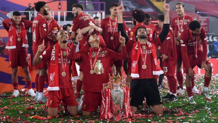 Skuat Brasil di Liverpool rayakan gelar juara Liga Primer Inggris
