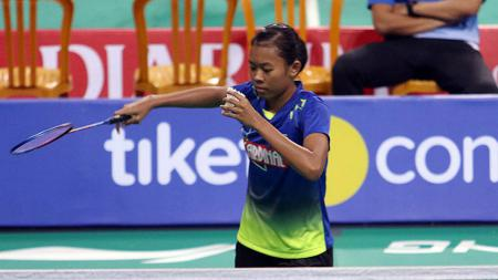 Saifi Rizka Nur Hidayah juara ketiga Mola TV PBSI Home Tournament. - INDOSPORT