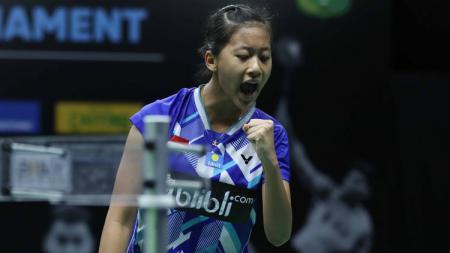 Pebulutangkis Putri Kusuma Wardani membeberkan penyebabkan kekalahannya atas Gregoria Mariska di final Mola TV PBSI Home Tournament. - INDOSPORT