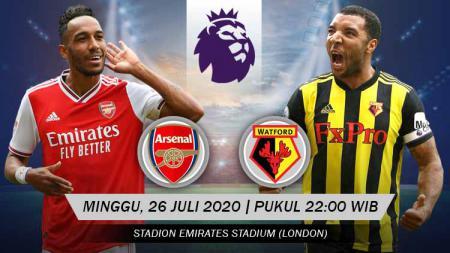 Berikut link live streaming pertandingan pekan terakhir kompetisi Liga Inggris musim 2019/2020 antara tuan rumah Arsenal vs Watford. - INDOSPORT