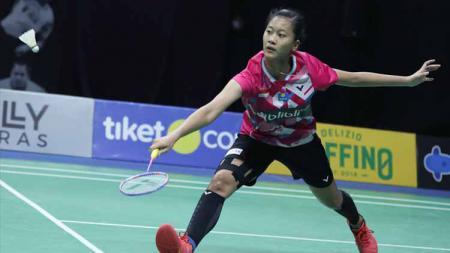 Putri Kusuma Wardani tak bisa menyembunyikan kekecewaannya, menyusul dibatalkannya Kejuaraan Dunia Bulutangkis Junior 2020. - INDOSPORT