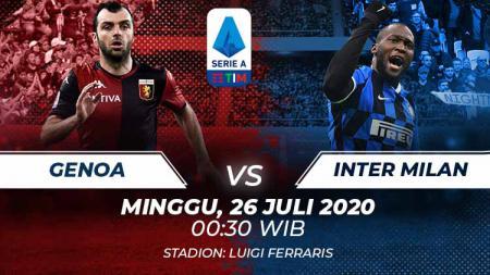Berikut tersaji prediksi pertandingan sepak bola pekan ke-36 kompetisi Serie A Liga Italia 2019-2020 antara Genoa vs Inter Milan, Minggu (26/07/20). - INDOSPORT