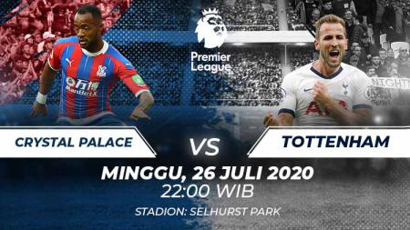 Link live streaming pekan terakhir Liga Inggris antara Crystal Palace vs Tottenham. - INDOSPORT