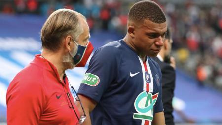 Kylian Mbappe menangis usai mendapatkan tekel horor - INDOSPORT