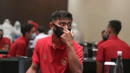 Pratama Arhan ketika berada di Hotel Fairmont, tempat pemain Timnas Indonesia U-19 menginap selama di Jakarta. - INDOSPORT