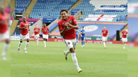 Selebrasi Lingard mencetak gol pertamanya - INDOSPORT