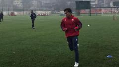 Indosport - Stefan Antonic saat berlatih bersama klub raksasa Serbia, Red Star Belgrade.