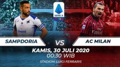 Indosport - Berikut link live streaming pertandingan lanjutan kompetisi Serie A Liga Italia musim 2019/2020 pada pekan ke-37 antara Sampdoria melawan AC Milan.