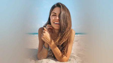 Linda Morselli, mantan kekasih Valentino Rossi. - INDOSPORT