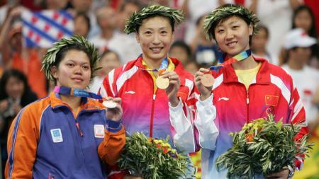 Peraih dua medali perak Olimpiade yang memutuskan hijrah dari Indonesia, yakni Mia Audina sukses buat Federasi Bulutangkis Dunia (BWF) terpana. - INDOSPORT