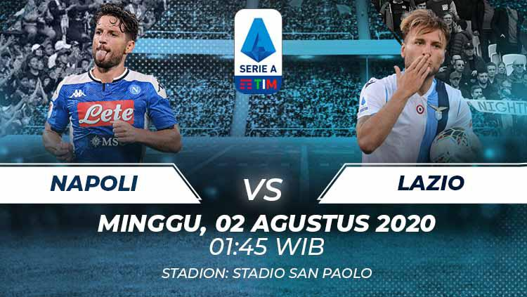 Link Live Streaming Pertandingan Serie A Italia: Napoli vs Lazio