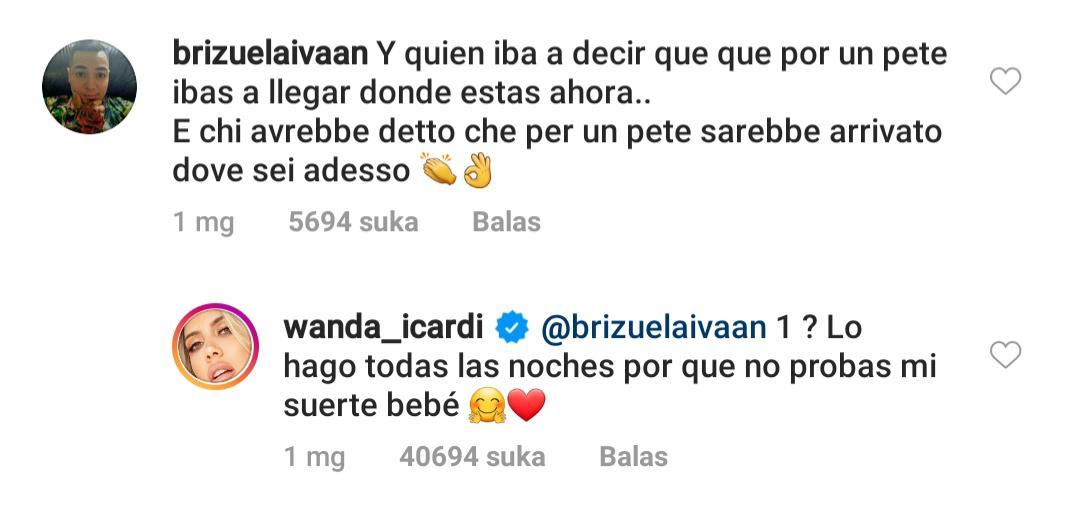 Wanda Nara membalas nyinyiran netizen dengan mengatakan rutin melakukan oral seks kepada Mauro Icardi Copyright: Instagram/Wanda Nara