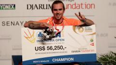 Indosport - Jan O Jorgensen juara Indonesia Open 2014, akhirnya pensiunsetelah lakoni Denmark Open 2020
