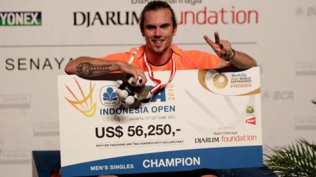 Pebulutangkis tunggal putra Denmark, Jan O Jorgensen resmi mengatakan kalau kompetisi Denmark Open 2020 akan menjadi turnamen perpisahannya. - INDOSPORT