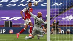 Indosport - Pemain Arsenal, Pierre-Emerick Aubameyang adalah pemain kunci atas kemenangan The Gunners di final Piala FA dan keluar sebagai juara setelah mengalahkan Chelsea