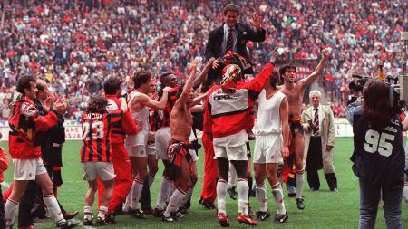 Habisi Inter Milan di Serie A Liga Italia buat AC Milan sukses pecahkan rekor Fabio Capello. - INDOSPORT
