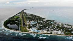 Indosport - Pemandangan pulau Tuvalu.