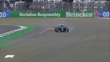 Bottas mengalami kecelakaan di lap ke-50 dalam F1 GP Silverstone - INDOSPORT