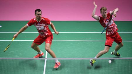 Kim Astrup dan Anders Skaarup Rasmussen diprediksi akan berjaya di Denmark Open 2020. - INDOSPORT