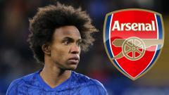 Indosport - Willian dikabarkan akan khianati Chelsea dan merapat ke Arsenal