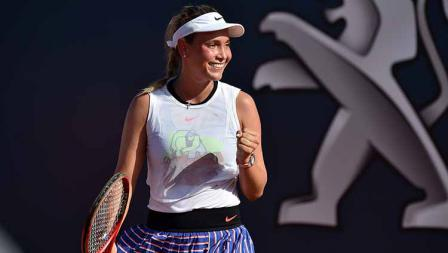 Unggulan keenam Palermo Terbuka, Donna Vekic (Kroasia), mengalahkan Arantxa Rus (Belanda).