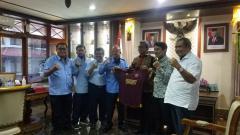 Indosport - Manajemen klub Liga 1 PSM Makassar temui Bupati Bantul.
