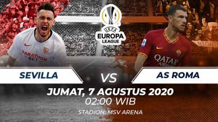Link Live Streaming Babak 16 Besar Liga Europa antara Sevilla vs AS Roma. - INDOSPORT