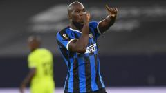 Indosport - Romelu Lukaku melakukan selebrasi usai mencetak gol di laga Inter Milan vs Getafe