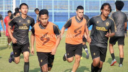 Latihan Arema FC di Stadion Kanjuruhan, Malang. - INDOSPORT