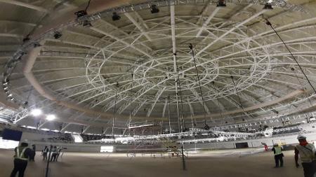 Venue Istana Olahraga (Istora) Papua Bangkit yang jadi venue PON XX Papua 2021 bakal memecahkan 3 rekor MURI sekaligus. - INDOSPORT