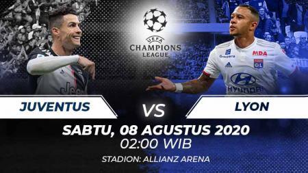 Berikut prediksi pertandingan antara Juventus vs Olympique Lyon pada leg kedua babak 16 besar Liga Champions, Sabtu (08/08/20) dini hari WIB. - INDOSPORT