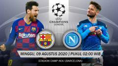 Indosport - Prediksi Pertandingan Liga Champions, Barcelona vs Napoli: Ujian Legitimasi Setien
