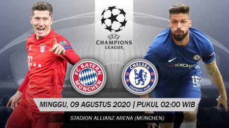 Berikut link live streaming pertandingan leg kedua babak 16 besar Liga Champions musim 2019/2020 antara Bayern Munchen vs Chelsea. - INDOSPORT