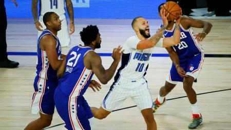 Laga Orlando Magic vs Philadelphia 76ers di NBA, Sabtu (08/08/20). - INDOSPORT